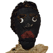SOLD Black Cloth Doll with Great Character Face