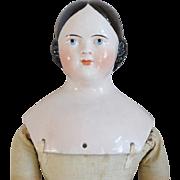 Covered Wagon Hairstyle Kestner German China Head Doll