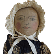 Antique Cloth Doll with Ink Drawn Face