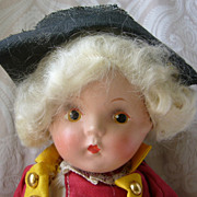 SALE All Original Cute Composition Colonial Boy Doll