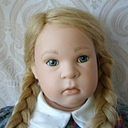 SOLD German Sigikid Vinyl Artist Doll by Sabine Esche