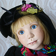"SOLD ""Apple Annie"" Limited Edition Porcelain Doll by Julia Rueger"