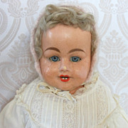 SALE Antique German Papier Mache Doll by F. M. Schilling