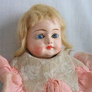 SALE German Papier Mache Doll in Original Costume