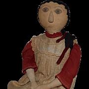 SOLD Large and Wonderful Antique Cloth Folk Art Doll