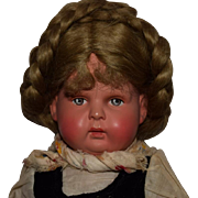 Vintage German Celluloid Character Doll in Original Ethic Costume