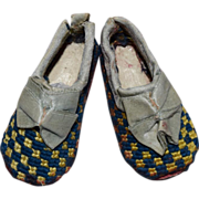 REDUCED Petite Needlepoint Doll Slippers