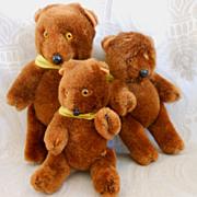 "Vintage Shackman ""The Three Bears"" Teddy Bear Set in Original Box"