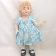 Vintage Japanese All Bisque Doll with Bobbed Hairstyle