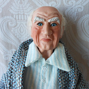 Charles Dickens Character Scrooge Porcelain Limited Edition Artist Doll by Linda Wingerd-Graha