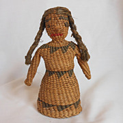 REDUCED Folk Art Native American Doll Woven Doll