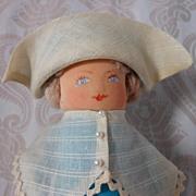 Pilgrim Lady Corncob Folk Art Doll