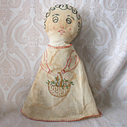 REDUCED Cloth Doll with Embroidered Features