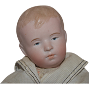 German Bisque Head Character Boy by Steinbacher