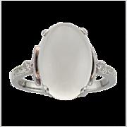Birks Moonstone & Diamond Ring