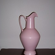 Pink Matte Ewer / Pitcher Hyalyn Pottery