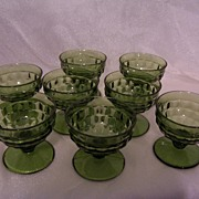 """REDUCED Indiana Glass """"Whitehall"""" Pattern Footed Sherbet, Set of 8"""