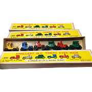 Shackman Vintage Miniature  Diecast Metal Vehicles MIB 6 To A Box 3 Boxes Included