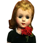 "Vintage 17"" Hard Plastic Walker American Character Doll"