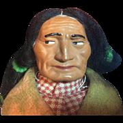 "14"" Vintage Skookums Indian Chief Wooden Feet"