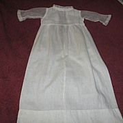 SALE Antique Doll Gown with Sheer Lace Net Sleeves for Baby Doll