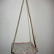 SALE Adorable Cloth Swing for Vintage or Antique Doll