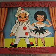 REDUCED Hanky Hankie Puppet Show Vintage Large Greeting Card NOS