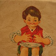 SOLD Old Nursery Rhyme Valentine Little Jack Horner Mechanical