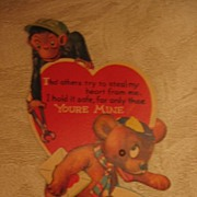 SALE Charles Twelvetrees Monkey and Bear Mechanical Valentine