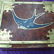 REDUCED Candy Tin Early Vincent Toffee Tin Lithographed Bluebird