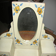 REDUCED Vintage Toy Dressing Table with Mirror German Made Dresser Bureau
