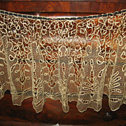 REDUCED Lace Cape Exquisite Shawl Tape Lace with Netting Inserts