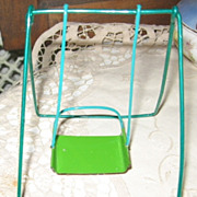 SALE NOS Wire and Metal Doll Swinging Chair in Original Package