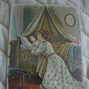 SALE Christian Thy Will Be Done Mother Praying for Child Old Postcard