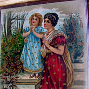 SALE Germany Highly Embossed Postcard Religious Lady and Child