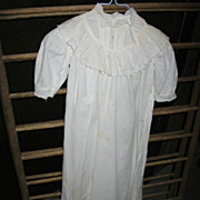 SALE Antique Christening Gown for Large Doll or Baby Christening