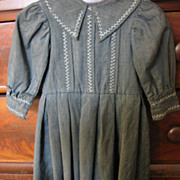 REDUCED Antique Victorian Boys Hand Decorated Dress