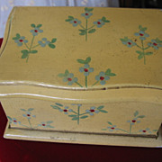 REDUCED Miniature Chest or Trunk for Doll Display Old Hand Painted Treasure