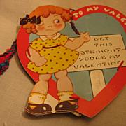SALE RARE NOVELTY Old Valentine Make Do Pin Cushion Heart Valentine Card