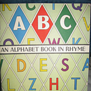 SALE An Alphabet Book in Rhyme 1940s Childs Book McLoughlin Bros