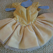 REDUCED Vintage Yellow TUTU Type Doll Costume Dance Dress or Outfit