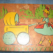 Adorable Girl and Her Dolly Wooden Childrens Puzzle by J K Straus