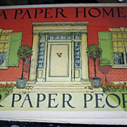 SALE Antique Rare Book A Paper Home For Paper People By Edith A Root