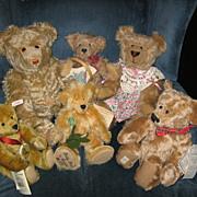 REDUCED Stieff Delighted Mohair Bear Anniversary of Margaret Stieffs Birth