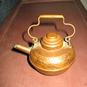SALE MIniature Copper Kettle Vintage Hammered Copper Pot