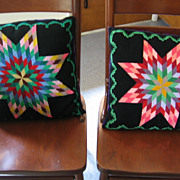 Vintage Mennonite Made Stunning Star Pillow