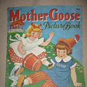 SALE 1940s Childrens Mother Goose Book Jack & Jill Cover