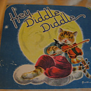 SALE Wonderful Old Nursery Rhyme Pop Up Hey Diddle Diddle Card