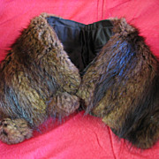 SALE Ladies Vintage Fur Collar
