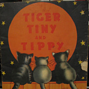 SALE Kittens Tiger Tiny & Tippy 1930s Childs Word Puzzle Book &